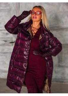 Куртка бордового цвета (марсала) на пуху