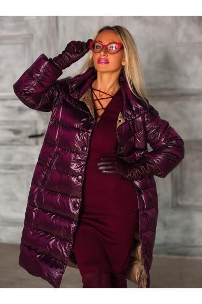 Куртка бордового цвета (марсала)